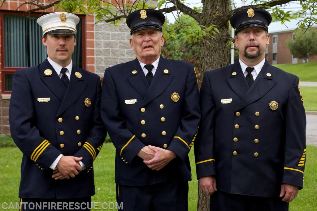 "L to R: Chief Brian McCluskey, Bill ""Pappy"" McCluskey, Patrick McCluskey."