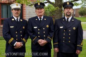 "L to R: Chief Brian McCluskey, Bill ""Pappy"" McCluskey, Patrick McCluskey."